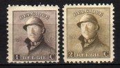 BELGIO -  1919 Scott# 124+125 * - Unused Stamps