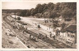 Dépt 77 - AVON - Travaux De Rénovation Des Voies De Chemin De Fer, Ouvriers Cheminots, Rails, Train, Fontainebleau,photo - Avon