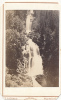 CDV PHOTO, SUISSE, Grisbach (Alps),  Waterfall, By T. RICHARD Maenedorf, 1871, RARE - Photos