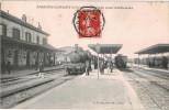 Carte Postale Ancienne De AMAGNE LUCQUY -La Gare - France