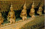 """BANGKOK    STATUES OF """"GARUR"""" INSIDE THE TEMPLE OF THE EMERALD BUDHA       (VIAGGIATA) - Tailandia"""