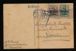 BRIEFKAART 1917 - VAN BRUXELLES  NAAR GENT