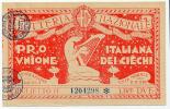 LOTTERIA NAZIONALE PRO UNIONE ITALIANA CIECHI ANNO 1932 - Billetes De Lotería