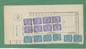 TASSE RUOTA BLOCCO L.5 + ALTRI SU TASSAZIONE COMULATIVA  DI L.340 - MODENA 7/2/1949 - Storia Postale
