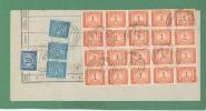 TASSE RUOTA BLOCCO L.1 + ALTRI SU TASSAZIONE COMULATIVA  DI L.180  - MODENA 7/6/1949 - Storia Postale