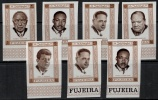 Fujeira 1969 Mi 374-380B Imperf  MNH Famous People - Stamps