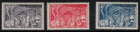 FSAT 1957 SC 8-10  MNH Space - Unused Stamps