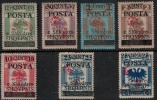 Albania 1919 SC 91-97  MLH Supt Rose/Red Signed - Albania