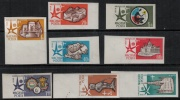 Hungary 1958 SC C176-C183 Imperf MNH Space Brussels Fair - Airmail