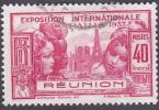Réunion Obl. N° 151 - Exposition Internationale 40cts Rose - Oblitérés