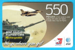 TANK & WARPLANE  ( AT&T Global Prepaid Card ) * Military Thematics * See Scan For Condition - United States
