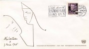 Dänemark 1960 - FDC, Marke Mit Überdruck (Animèe Mondiale Du Refugie) - FDC
