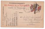 Carte En Franchise Militaire - Modèle 15C - La Sous Ci, Gros ° à N°, Au Verso, Finit Entre O Et R De Porter, Ou Sous Ne - Marcofilie (Brieven)