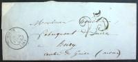 CACHET TYPE 15  --  NOYON  --  OISE  --  LAC  --  1854 - Marcophilie (Lettres)