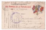 Carte En Franchise Militaire - Modèle 15BA - L Entre C Et I, Petit ° à N°, Au Verso Finit Entre O Et R De Porter - Marcofilie (Brieven)