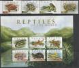 PALAU,MNH, REPTILES, TURTLES, LIZARDS, FROGS, 4v+SHEETLET - Turtles