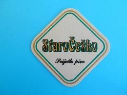 STARO CESKO BEER ( Croatia Beer Coaster ) Beercoaster Bière Bier Cerveza Birra Mat Sous-bock Bierdeckel Sottobicchiere - Beer Mats