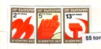 Bulgaria / Bulgarie 1976 Communist Party Progress 3v.- Used/oblit.(O) - Gebraucht