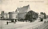 Nantes Le Chateau Vue Prise Du Quai Du Port Maillard  Carioles Carte Animée - Nantes