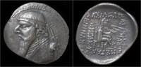 Parthian Kingdom Mithradates II AR Drachm - Griekenland