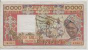 WEST AFRICAN STATES P. 109Aj 10000 F 1992 F/VF - Côte D'Ivoire