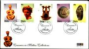 CERAMICS IN MALTESES COLLECTIONS-FDC-MALTA-2006-C-2009-3 - Porcelaine