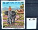 8 Jahre Republik Laos, Elefant, Forstwirtschaft, Laos 1983 (la0259) - Laos