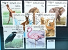 Tiere, Fauna, Animals, Giraffe, Löwe, Känguru, Reiher, Laos 1986 (la0564) - Laos