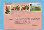 Marcophilie-lettre-Congo-pour Françe- Cad-loutete -1981-4 Stamps N°271fleurs Connarus+471 Aviation  Trajan Vuia - Congo - Brazzaville