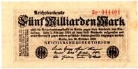 5 Milliarden Mark 1923 - [ 3] 1918-1933 : República De Weimar