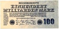 100 Milliarden Mark 1923 - [ 3] 1918-1933 : Weimar Republic