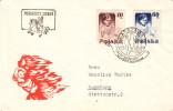 Institutrices - Pologne - Lettre De 1956 - Oblitération Warsawa - 1944-.... République