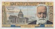 - BILLETS -5NF VICTOR HUGO - N°82602 -A.124 - B.1-10-1964.B - 1959-1966 Nouveaux Francs