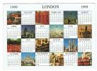 calendrier  carte  postale  12 cm x 17 cm   mois   anglais