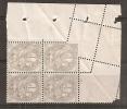 TIMBRE N° 107 TYPE BLANC    PIQUAGE SUR PLIURE    COTE MAURY 180 EUROS - Curiosità: 1900-20 Storia Postale