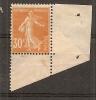 TIMBRE N° 141 TYPE SEMEUSE    PIQUAGE OBLIQUE   COTE MAURY 110 EUROS - Curiosità: 1900-20 Storia Postale