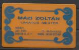 Hungary,  Mázi Zoltán, Metal Worker  Master. - Cartes De Visite