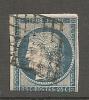 CERES - Yv.  4 (o) 25c  Bleu  Cote 45 Euros BE R 2 Scans - 1849-1850 Cérès