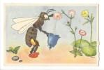 L1898  -  Tribi La Récolte Abeille Pavot Et Clochette - Künstlerkarten