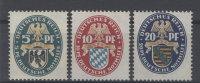 Deutsches Reich Michel No. 375 - 377 ** postfrisch