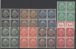 Deutsches Reich Michel No. 512 - 519 ** postfrisch Viereblock
