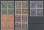 Lot Deutsches Reich Diest Michel No. 16 , 18 , 19 , 20 , 21 ** postfrisch Viererblock
