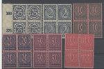 Deutsches Reich Dienst Michel No. 69 - 74 ** postfrisch Viererblock