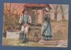 CP PUBLICITAIRE CHICOREE A LA BELLE JARDINIERE C BERIOT A LILLE - A LA VIE BRETONNE N°3 - A LA FONTAINE - Costumes