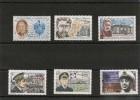 Saint Pierre Et Miquelon Années 1980/99  Personnages Célèbres N° Y/T :   476-488-511-558-573-641** - Collections, Lots & Séries