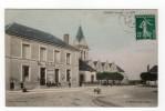 Lusigny ( Aube ) - La Place , Mairie, Colorisée, Animée - 10 - - France