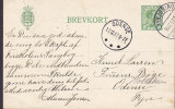Denmark Postal Stationery Ganzsache Christian X. Brotype Ia NYKJØBING MORS 1917 ODENSE (Arr.) Brotype Ia FRUENS BØGE (Ar - Postal Stationery