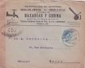 Espagne 25c Obl BARCELONA Sur Lettre En-tête + CENSURE 452 Sur Lettre > Paris - 1889-1931 Königreich: Alphonse XIII.