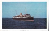Isle Of Man Ferry  S.S. St Seiriol  (sank 1915).  This Reprint C1970 - Paquebots