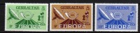 Gibraltar N° 393 / 95 X  Europa. Les 3 Valeurs Trace De Charnière Sinon  TB - Gibraltar